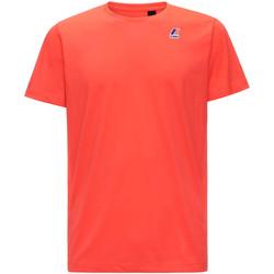 Υφασμάτινα Άνδρας T-shirt με κοντά μανίκια K-Way K007JE0 το κόκκινο