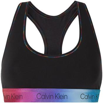 Υφασμάτινα Γυναίκα Αθλητικά μπουστάκια  Calvin Klein Jeans 000QF6538E Μαύρος