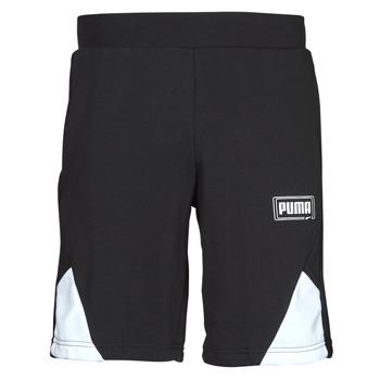 Υφασμάτινα Άνδρας Σόρτς / Βερμούδες Puma RBL SHORTS Black / Άσπρο