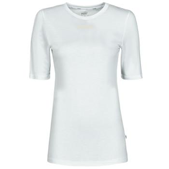 Υφασμάτινα Γυναίκα T-shirt με κοντά μανίκια Puma MBASIC TEE Άσπρο