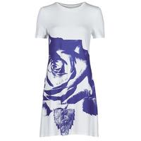 Υφασμάτινα Γυναίκα Κοντά Φορέματα Desigual WASHINTONG Άσπρο / Μπλέ