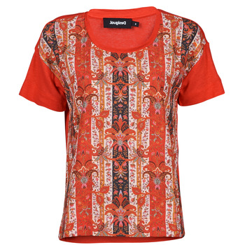Υφασμάτινα Γυναίκα T-shirt με κοντά μανίκια Desigual LOMBOK Multicolour