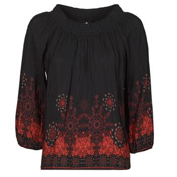 Υφασμάτινα Γυναίκα Μπλούζες Desigual EIRE Black / Red