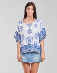 Υφασμάτινα Γυναίκα Μπλούζες Desigual ANDES Άσπρο / Μπλέ