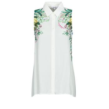 Υφασμάτινα Γυναίκα Μπλούζες Desigual FILADELFIA Άσπρο / Green