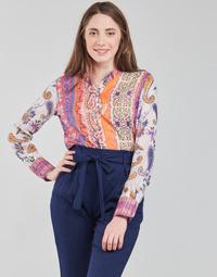 Υφασμάτινα Γυναίκα Μπλουζάκια με μακριά μανίκια Desigual BOHO Multicolour