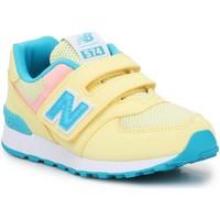Παπούτσια Παιδί Σανδάλια / Πέδιλα New Balance PV574BYS yellow, blue, white
