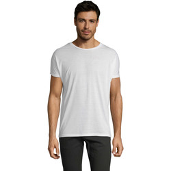 Υφασμάτινα Άνδρας T-shirt με κοντά μανίκια Sols CAMISETA HOMBRE SUBLIMACION Blanco