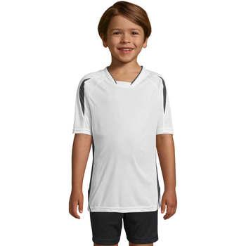 Υφασμάτινα Παιδί T-shirt με κοντά μανίκια Sols Maracana - CAMISETA NIÑO MANGA CORTA Blanco