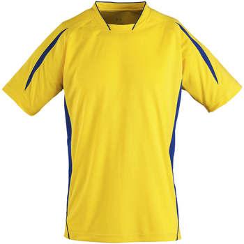 Υφασμάτινα Παιδί T-shirt με κοντά μανίκια Sols Maracana - CAMISETA NIÑO MANGA CORTA Amarillo