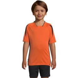 Υφασμάτινα Παιδί T-shirt με κοντά μανίκια Sols Maracana - CAMISETA NIÑO MANGA CORTA Naranja