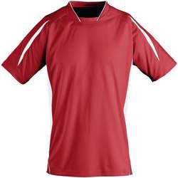Υφασμάτινα Παιδί T-shirt με κοντά μανίκια Sols Maracana - CAMISETA NIÑO MANGA CORTA Rojo