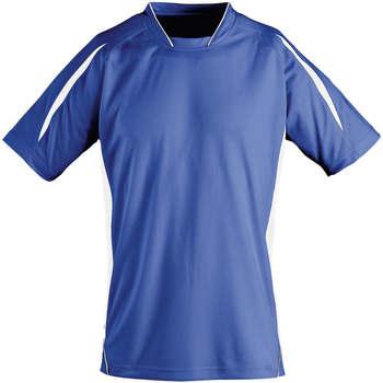 Υφασμάτινα Παιδί T-shirt με κοντά μανίκια Sols Maracana - CAMISETA NIÑO MANGA CORTA Azul