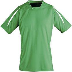 Υφασμάτινα Παιδί T-shirt με κοντά μανίκια Sols Maracana - CAMISETA NIÑO MANGA CORTA Verde