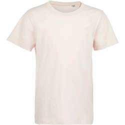 Υφασμάτινα Παιδί T-shirt με κοντά μανίκια Sols Camiseta de niño con cuello redondo Rosa