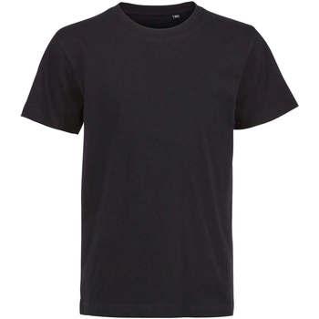 Υφασμάτινα Παιδί T-shirt με κοντά μανίκια Sols Camiseta de niño con cuello redondo Negro