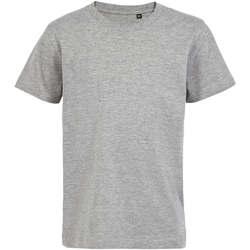 Υφασμάτινα Παιδί T-shirt με κοντά μανίκια Sols Camiseta de niño con cuello redondo Gris