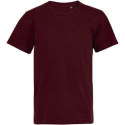 Υφασμάτινα Παιδί T-shirt με κοντά μανίκια Sols Camiseta de niño con cuello redondo Burdeo