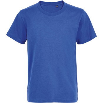 Υφασμάτινα Παιδί T-shirt με κοντά μανίκια Sols Camiseta de niño con cuello redondo Azul