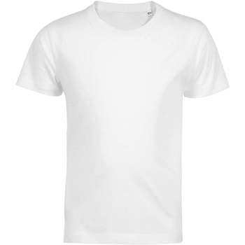 Υφασμάτινα Παιδί T-shirt με κοντά μανίκια Sols Camiseta de niño con cuello redondo Blanco