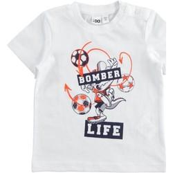 Υφασμάτινα Αγόρι T-shirt με κοντά μανίκια Ido 42041 Bianco