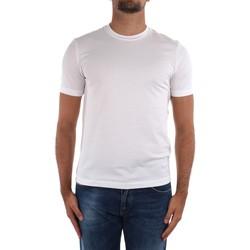 Υφασμάτινα Άνδρας T-shirt με κοντά μανίκια Cruciani CUJOSB G30 White