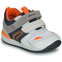 Παπούτσια Αγόρι Χαμηλά Sneakers Geox B RISHON Άσπρο