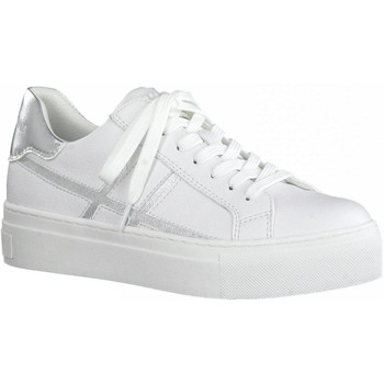 Xαμηλά Sneakers Marco Tozzi White Silver Casual Trainers