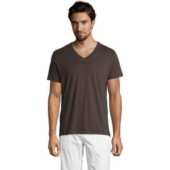 Υφασμάτινα Άνδρας T-shirt με κοντά μανίκια Sols Master camiseta hombre cuello pico Gris