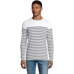 Υφασμάτινα Άνδρας Μπλουζάκια με μακριά μανίκια Sols Matelot camiseta hombre manga larga Blanco