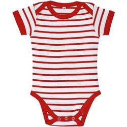 Υφασμάτινα Παιδί Σετ Sols Body bebé a rayas Rojo