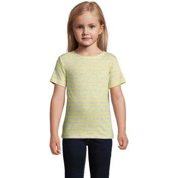 Υφασμάτινα Παιδί T-shirt με κοντά μανίκια Sols Camiseta niño cuello redondo Gris