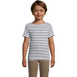 Υφασμάτινα Παιδί T-shirt με κοντά μανίκια Sols Camiseta niño cuello redondo Azul