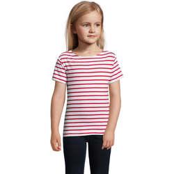 Υφασμάτινα Παιδί T-shirt με κοντά μανίκια Sols Camiseta niño cuello redondo Rojo