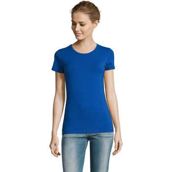 T-shirt με κοντά μανίκια Sols Camiserta de mujer de cuello redondo