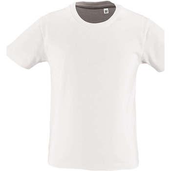Υφασμάτινα Παιδί T-shirt με κοντά μανίκια Sols CAMISETA DE MANGA CORTA Blanco