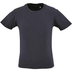 Υφασμάτινα Παιδί T-shirt με κοντά μανίκια Sols CAMISETA DE MANGA CORTA Azul