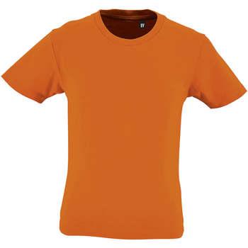 Υφασμάτινα Παιδί T-shirt με κοντά μανίκια Sols CAMISETA DE MANGA CORTA Naranja