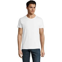 Υφασμάτινα Άνδρας T-shirt με κοντά μανίκια Sols CAMISETA DE MANGA CORTA Blanco