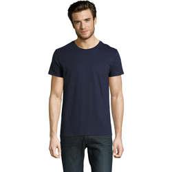 Υφασμάτινα Άνδρας T-shirt με κοντά μανίκια Sols CAMISETA DE MANGA CORTA Azul