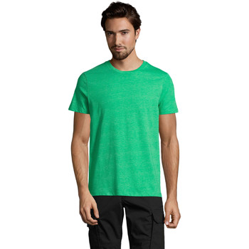 Υφασμάτινα Άνδρας T-shirt με κοντά μανίκια Sols Mixed Men camiseta hombre Verde