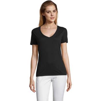 T-shirt με κοντά μανίκια Sols MOTION camiseta de pico mujer