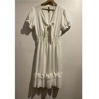 Υφασμάτινα Γυναίκα Κοντά Φορέματα Fashion brands 9176-BLANC Άσπρο