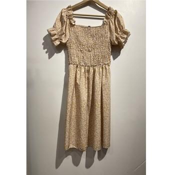 Υφασμάτινα Γυναίκα Κοντά Φορέματα Fashion brands 53176-BEIGE Beige