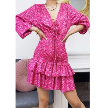 Υφασμάτινα Γυναίκα Κοντά Φορέματα Fashion brands 22974-FUSHIA Fushia