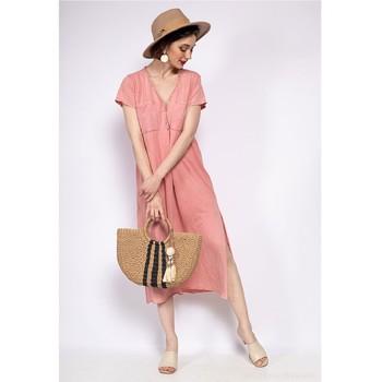 Υφασμάτινα Γυναίκα Μακριά Φορέματα Fashion brands 6658-CORAIL Corail