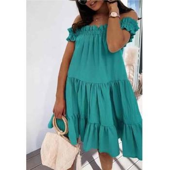 Υφασμάτινα Γυναίκα Κοντά Φορέματα Fashion brands R5119-VERT-D-EAU Green / Water