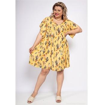 Υφασμάτινα Γυναίκα Κοντά Φορέματα Fashion brands DIABOLE-COLOR-ONE-JAUNE Yellow