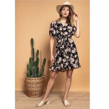 Υφασμάτινα Γυναίκα Κοντά Φορέματα Fashion brands 2145A-NOIR Black