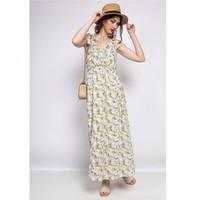 Υφασμάτινα Γυναίκα Κοντά Φορέματα Fashion brands R182-BEIGE Beige